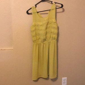 Yellow ruffled ModCloth dress